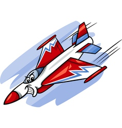 jet fighter plane cartoon vector image vector image