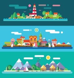 Landscapes by the sea vector image vector image