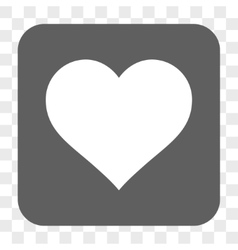 Love Heart Rounded Square Button vector image vector image