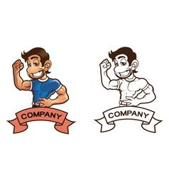 Mascot Workout Design vector image