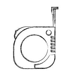 measure tape icon monochrome blurred silhouette vector image