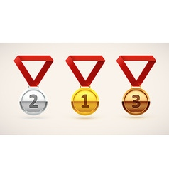 medal realistic object isolated on white vector image vector image