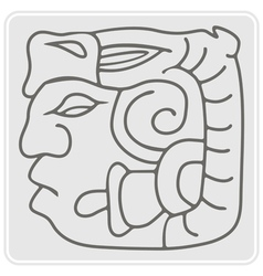 monochrome icon with American Indians relics vector image