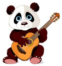 Panda guitarist vector image vector image