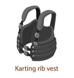 Protective waistcoat icon isometric 3d style vector