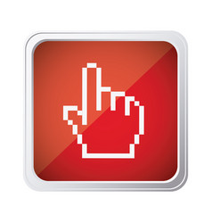 Red emblem mouse hand cursor icon vector