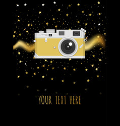 retro camera or vintage camera in a flat style on vector image