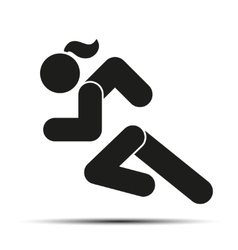 Running woman simple symbol of run isolated on a vector