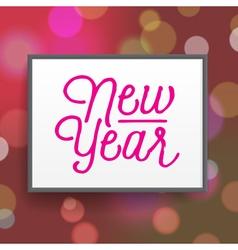Slogan poster xmas new year vector