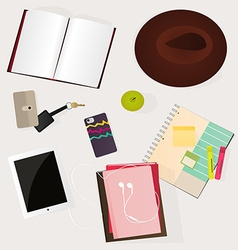 Student desk vector image