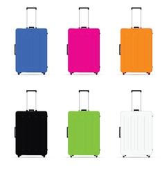 travel baggage set vector image vector image
