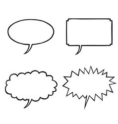 various speech bubbles vector image vector image