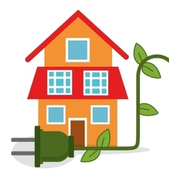 ecology house home energy vector image
