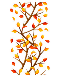 Autumn seamless pattern with branches of tree and vector