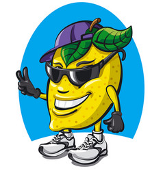 Lemon character cartoon vector
