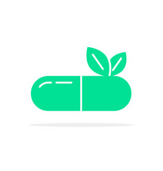 Green herbal medication logo vector