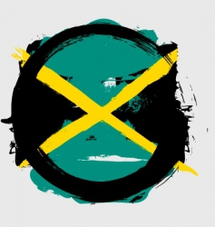 Jamaica circle flag vector