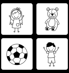 Toys kids vector
