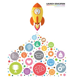 Launch education vector