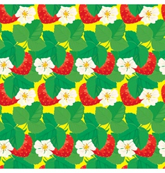 Strawberry seamless 3 380 vector