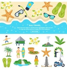 Concept bali travel vector