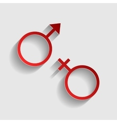 Sex symbol sign vector