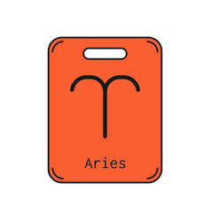 aries sign of the zodiac flat symbol horoscope vector image vector image