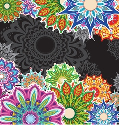 Background with round patterns vector