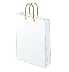 Bag blank vector image vector image