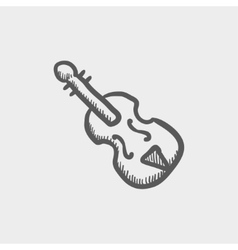 Cello sketch icon vector