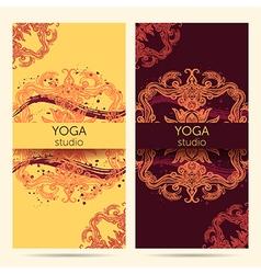 design template for yoga studio vector image vector image