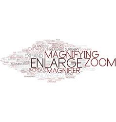 Enlarge word cloud concept vector