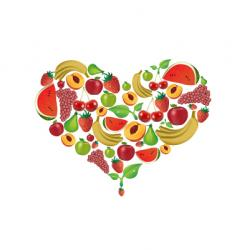 fruit heart vector image vector image