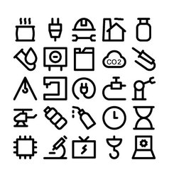 Industrial icons 7 vector