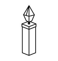 Isometric christmas candle design vector