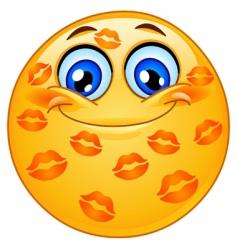 kissed emoticon vector image