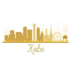Kobe city skyline golden silhouette vector