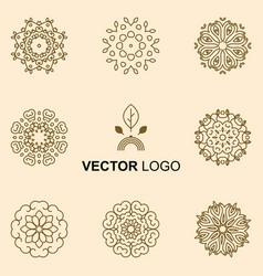Modern stylish logo elements vector