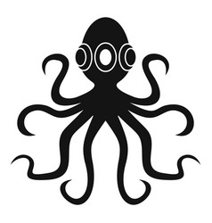 Octopus icon simple vector