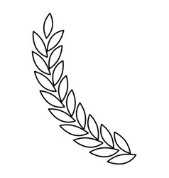 Olive branch closeup in monochrome color vector