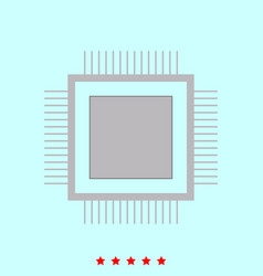 processor it is icon vector image vector image