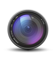 Realistic of camera zoom lens vector