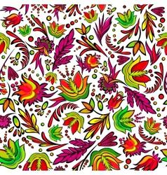 Seamless cartoon hand-drawn pattern vector image