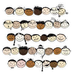 Set of funny peoples sketch for your design vector image vector image