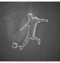 Soccer player icon vector
