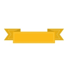Yellow banner icon image vector