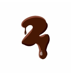 Number 2 from latin alphabet made of chocolate vector