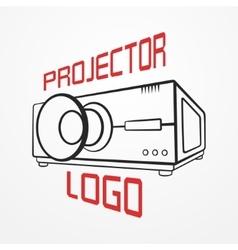 Projector line logo vector