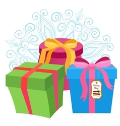 Present gift boxes vector