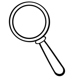 Cartoon magnifying glass vector